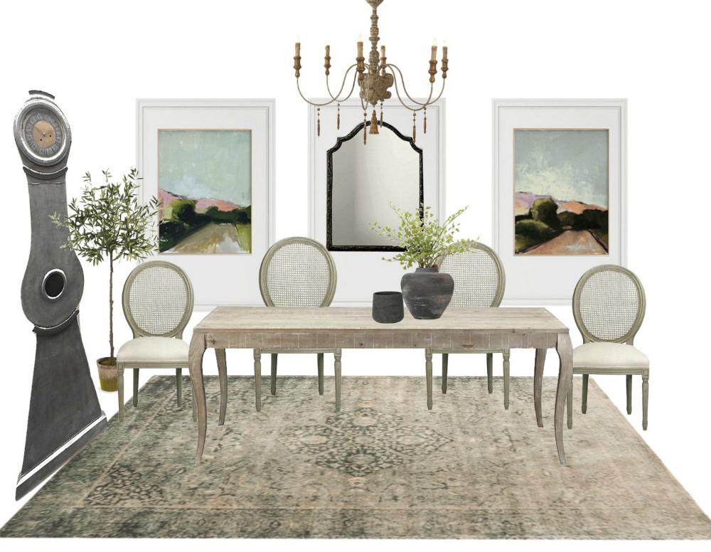 Dining Room Sample Board