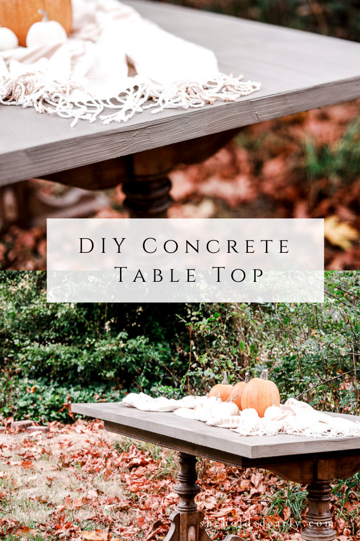 DIY Concrete Table Top by sheholdsdearly.com