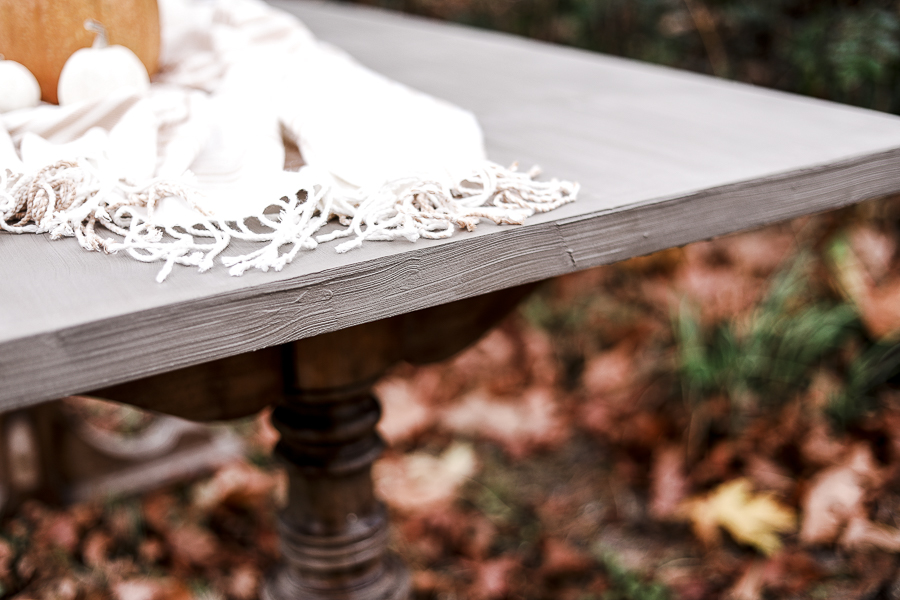 Easy DIY Outdoor Concrete Table by sheholdsdearly.com