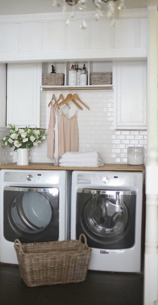 French Country Cottage Laundry Room