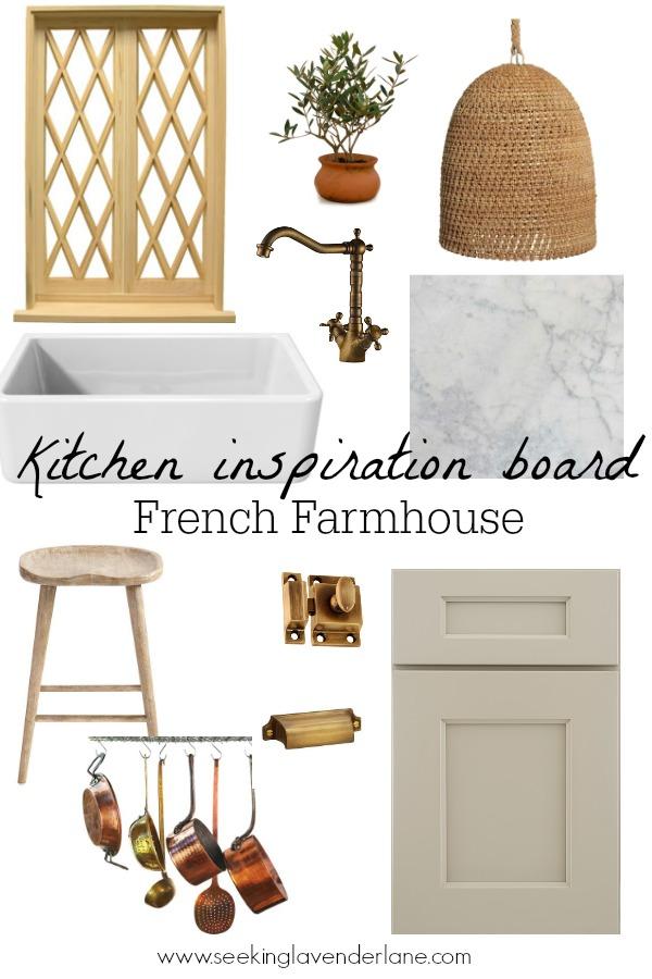 French Farmhouse Kitchen Inspiration Board
