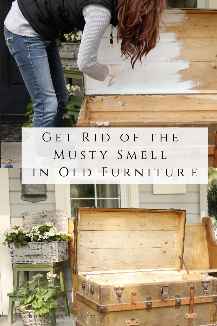 Get Rid of The Musty Smell in Old Furniture by sheholdsdearly.com