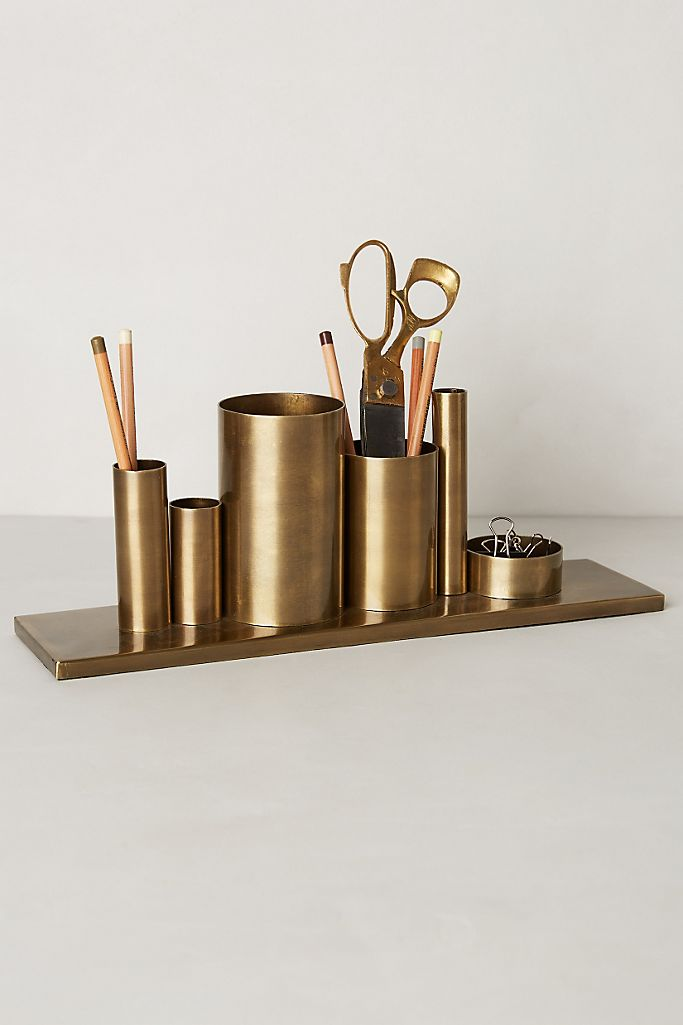 Gold Desk Organizer