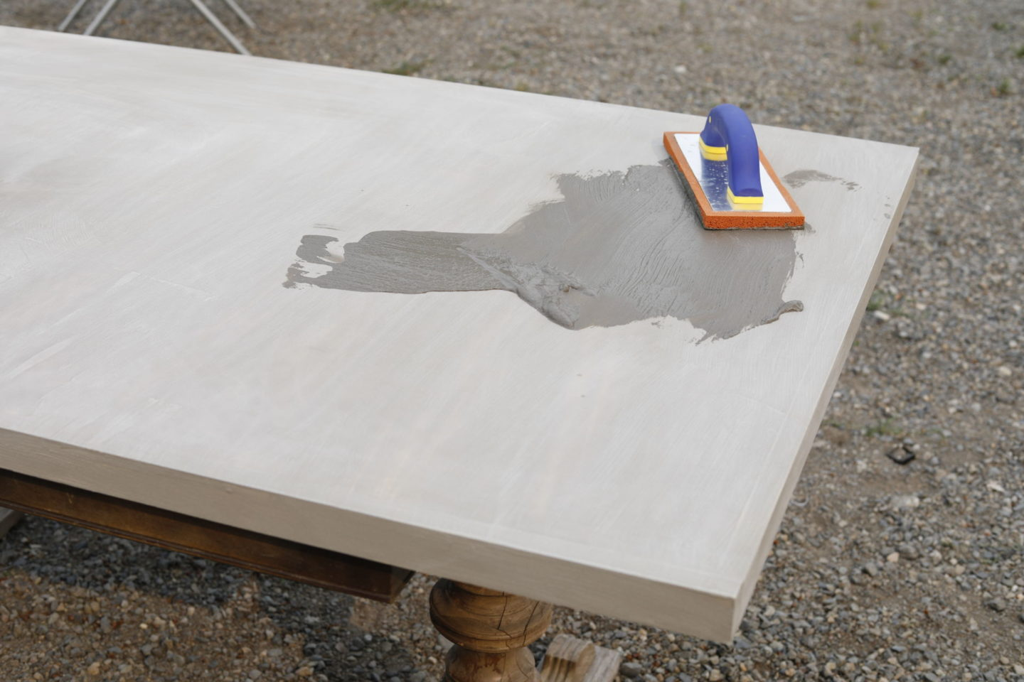 Diy Concrete Table Top She Holds Dearly