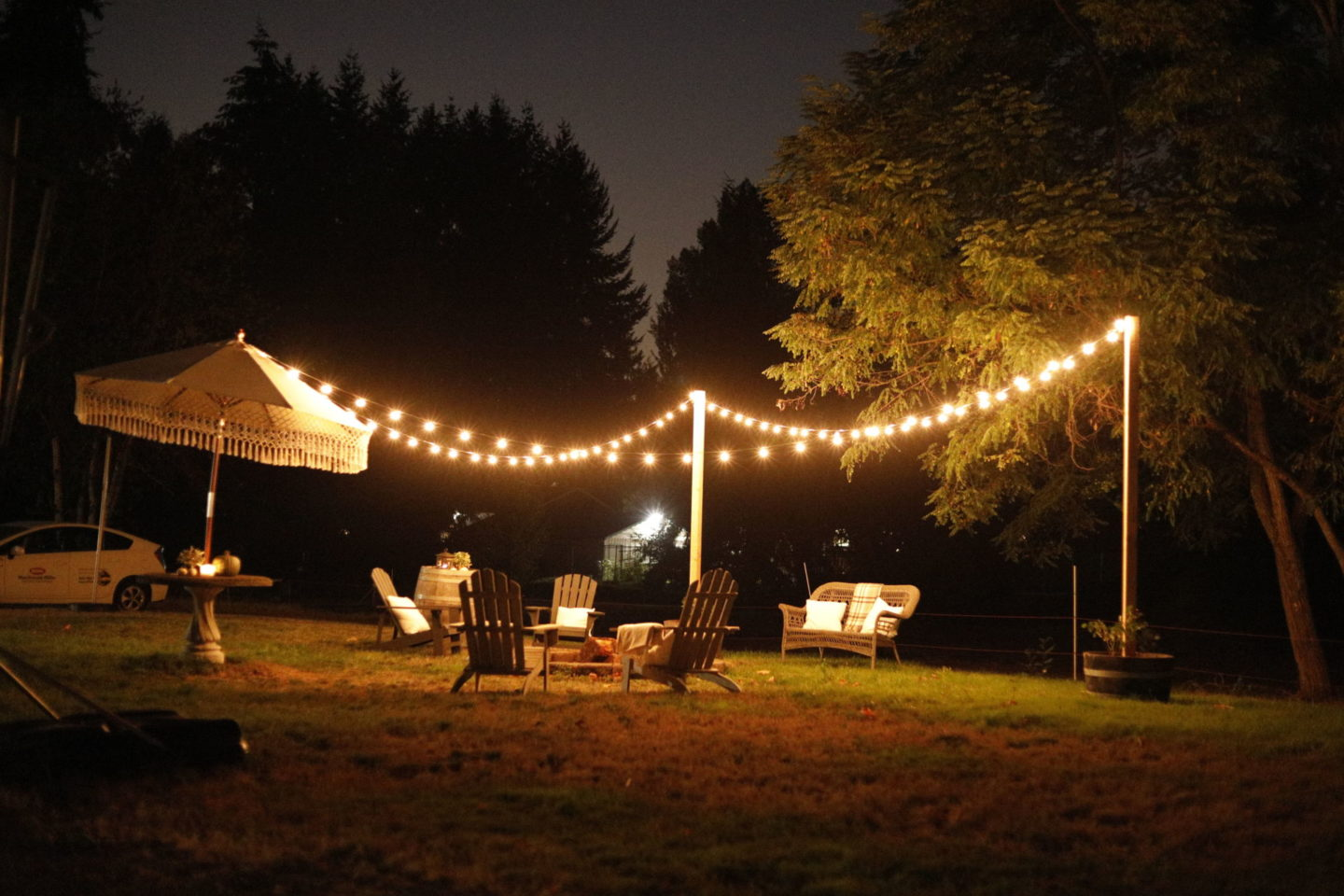 String Lighting for Patio by sheholdsdearly.com