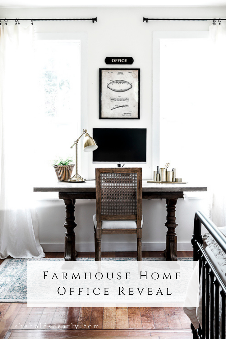 Farmhouse Home Office Reveal by sheholdsdearly.com