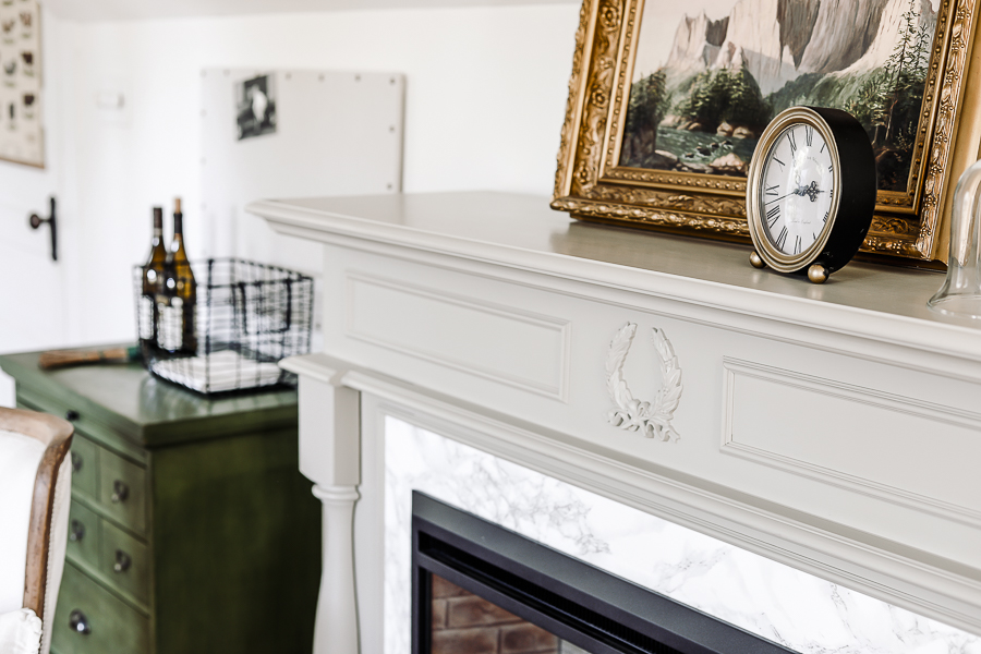 Farmhouse Master Bedroom Mantle by sheholdsdearly.com