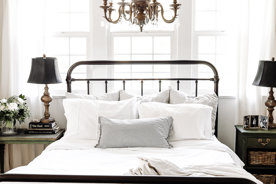 Farmhouse Style Bedroom Bed by sheholdsdearly.com