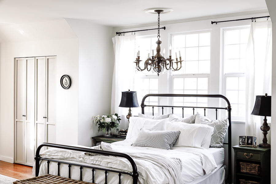 Farmhouse Style Bedroom House Tour by sheholdsdearly.com