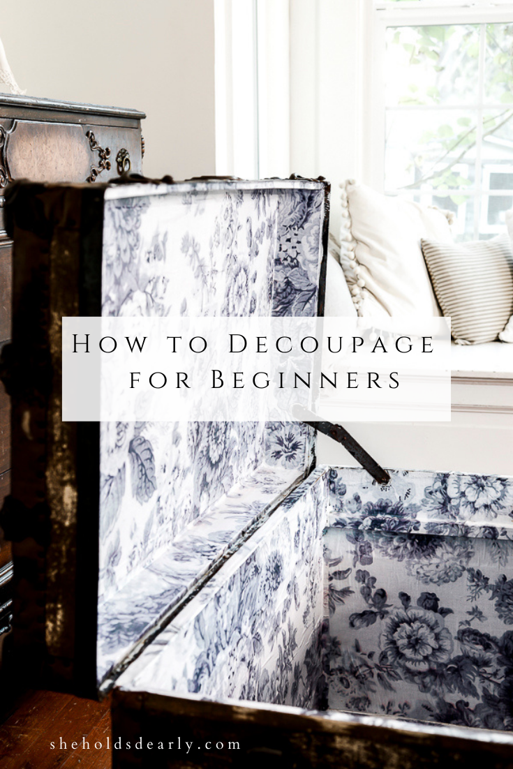 How to Decoupage for Beginners by sheholdsdearly.com