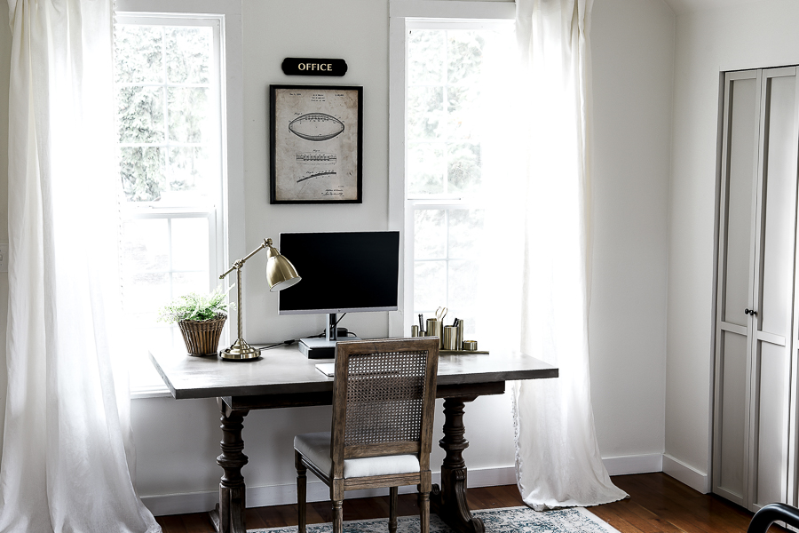 Modern Farmhouse Office by sheholdsdearly.com