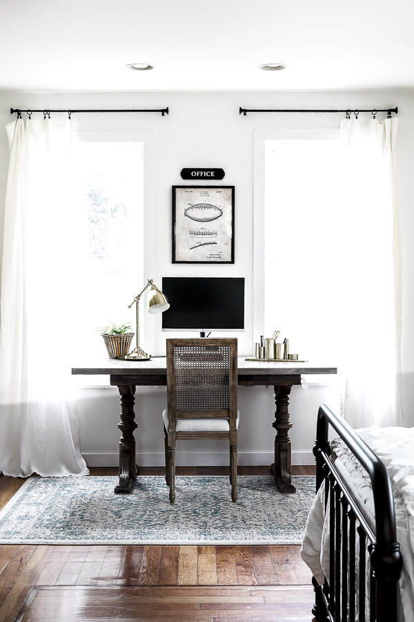 Simple Farmhouse Home Office by sheholdsdearly.com