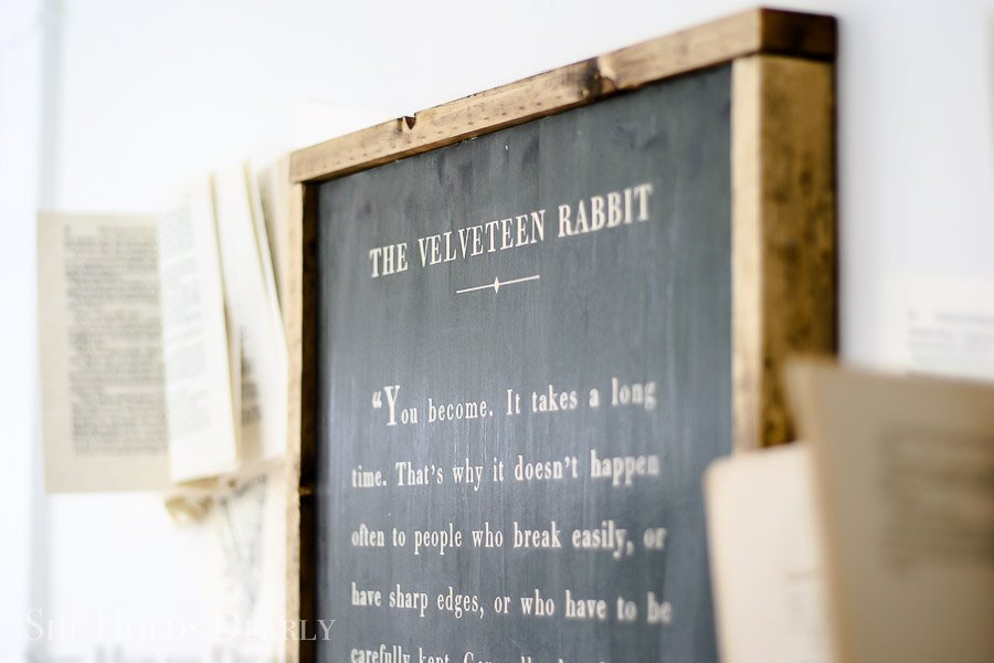 Velveteen Rabbit Sign by sheholdsdearly.com