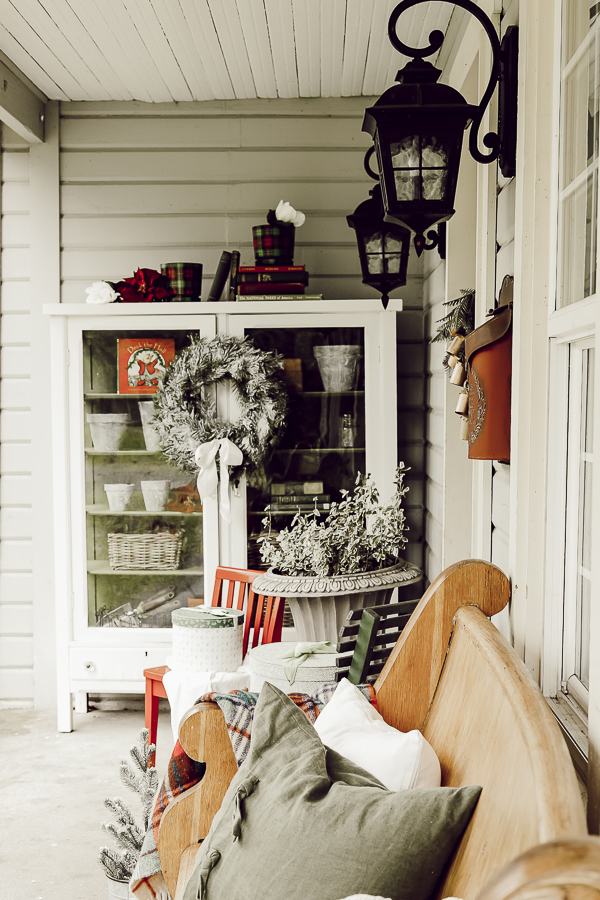 Christmas Front Porch Farmhouse Home Tour by sheholdsdearly.com