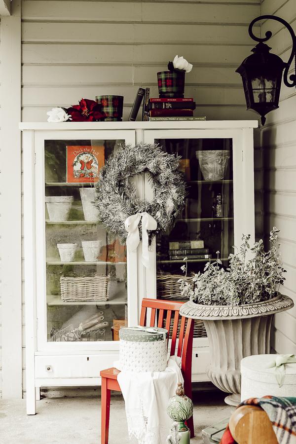 Cozy Farmhouse Christmas Porch by sheholdsdearly.com