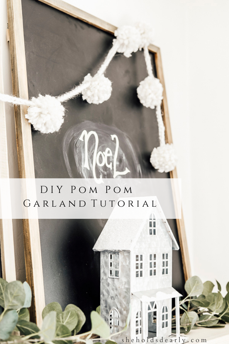 DIY Pom Pom Garland Tutorial by sheholdsdearly.com