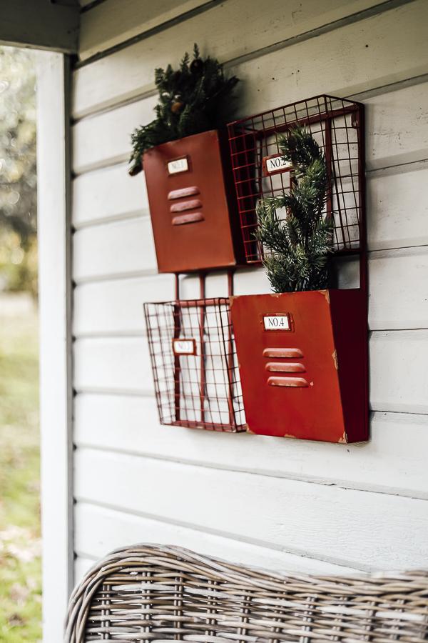Holiday Farmhouse Winter Porch by sheholdsdearly.com