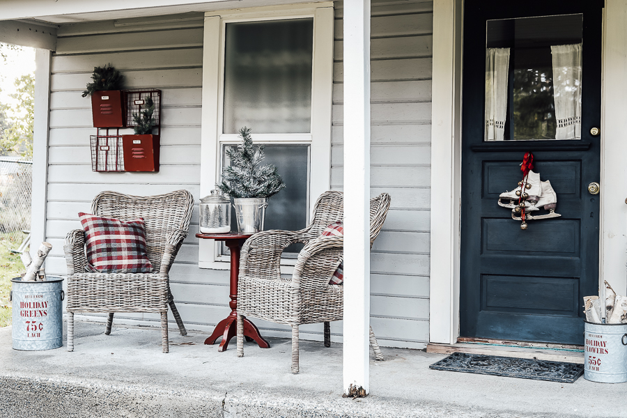 Rustic Christmas Front Porch Tour by sheholdsdearly.com