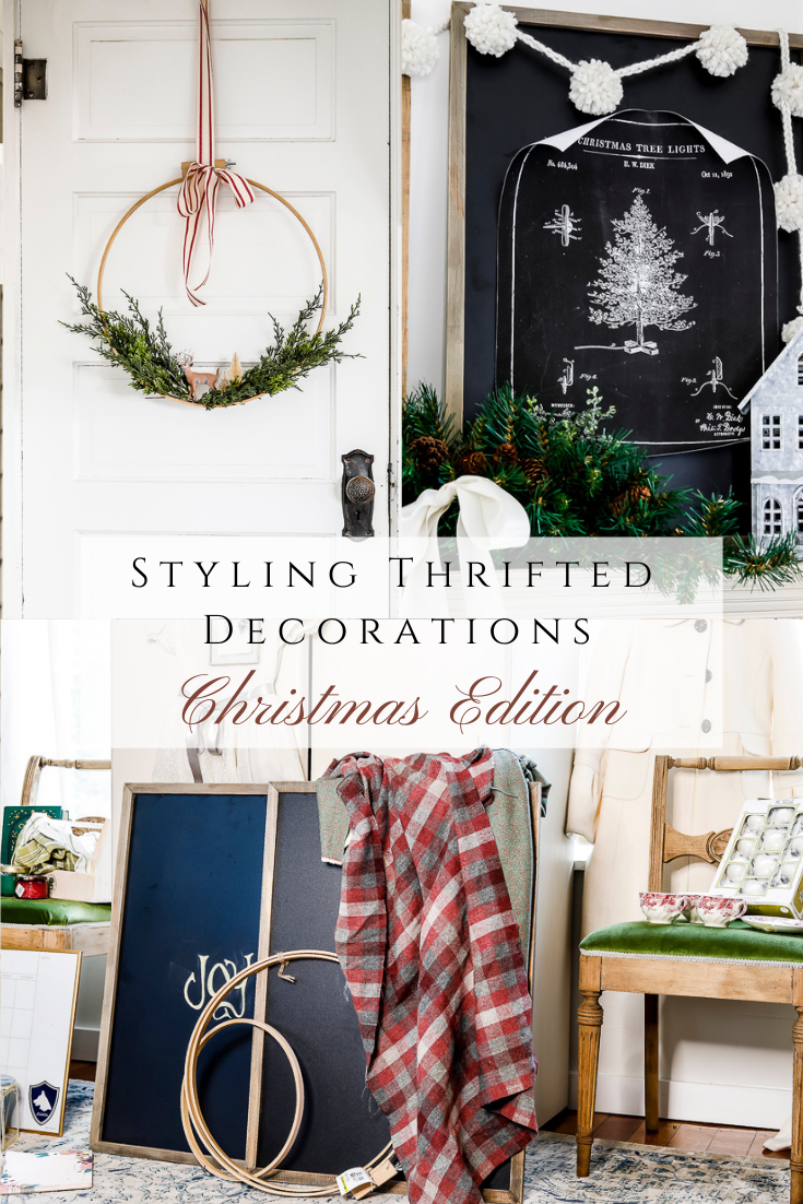 Styling Thrifted Decorations - Holiday Edition by sheholdsdearly.com