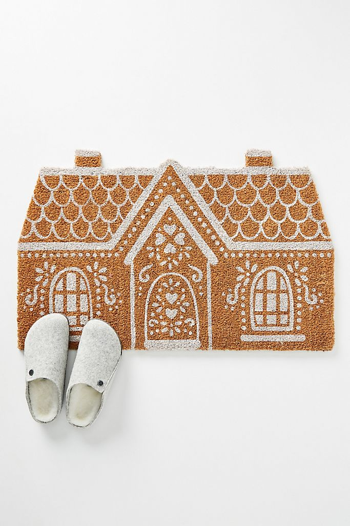 Anthropologie Gingerbread House Doormatt by sheholdsdearly.com