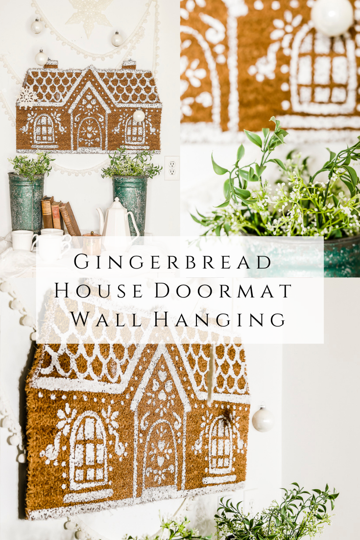 Gingerbread House Doormat Wall Hanging by sheholdsdearly.com