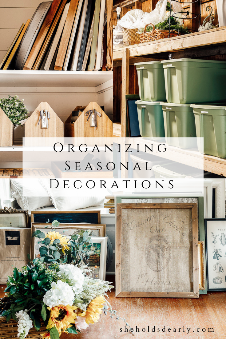 Organizing Seasonal Decor by sheholdsdearly.com