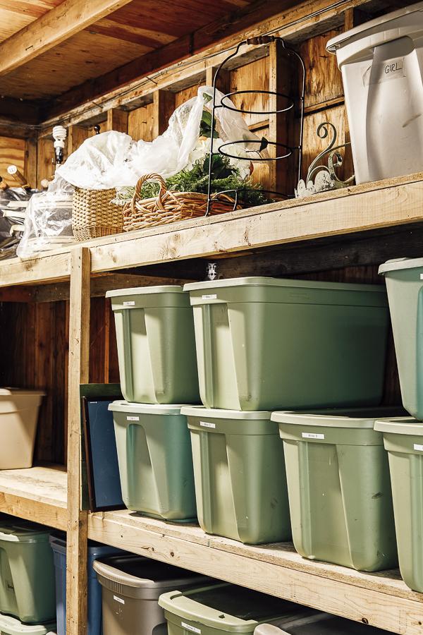 Organizing Seasonal Decorations by sheholdsdearly.com